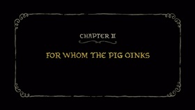 Screenshots from the 2018 Rough Draft Studios cartoon For Whom the Pig Oinks