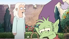 Screenshots from the 2018 Rough Draft Studios cartoon The Princess of Darkness