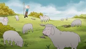 Screenshots from the 2018 Rough Draft Studios cartoon Faster, Princess! Kill! Kill!