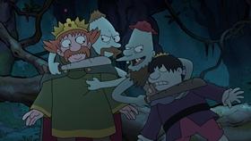 Screenshots from the 2018 Rough Draft Studios cartoon Swamp and Circumstance