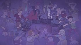 Screenshots from the 2018 Rough Draft Studios cartoon Love