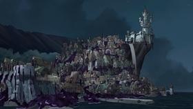 Screenshots from the 2018 Rough Draft Studios cartoon Dreamland Falls