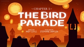 Screenshots from the 2018 Silvergate Media cartoon Chapter 3: The Bird Parade