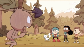 Screenshots from the 2018 Silvergate Media cartoon Chapter 4: The Sparrow Scouts