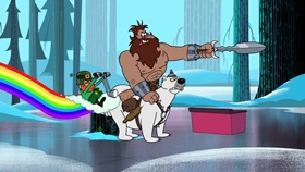 Screenshots from the 2018 Warner Brothers Television cartoon Then Things Got Weird