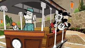 Screenshots from the 2019 Disney Television Animation cartoon For Whom the Booth Tolls