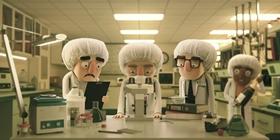 Screenshots from the 2019 Blur Studio Inc. cartoon When the Yogurt Took Over