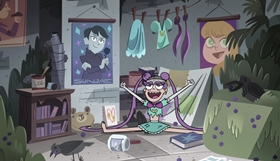 Screenshots from the 2019 Disney Television Animation cartoon Ghost of Butterfly Castle