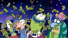 Screenshots from the 2019 Nickelodeon cartoon Rocko