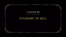 Screenshots from the 2019 Rough Draft Studios cartoon Stairway to Hell