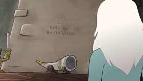 Screenshots from the 2019 Rough Draft Studios cartoon The Lonely Heart is a Hunter