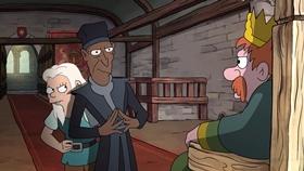 Screenshots from the 2019 Rough Draft Studios cartoon The Dreamland Job