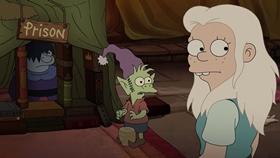 Screenshots from the 2019 Rough Draft Studios cartoon Love