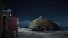 Screenshots from the 2019 Rough Draft Studios cartoon The Electric Princess