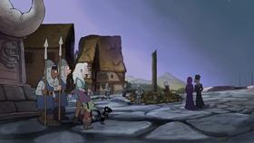 Screenshots from the 2019 Rough Draft Studios cartoon Tiabeanie Falls