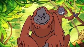Screenshots from the 2019 Walt Disney Company (Southeast Asia) cartoon Rainforest Hunt