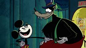 Screenshots from the 2020 Disney Television Animation cartoon The Big Good Wolf