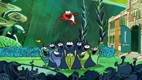 Screenshots from the 2020 Disney Television Animation cartoon School of Fish