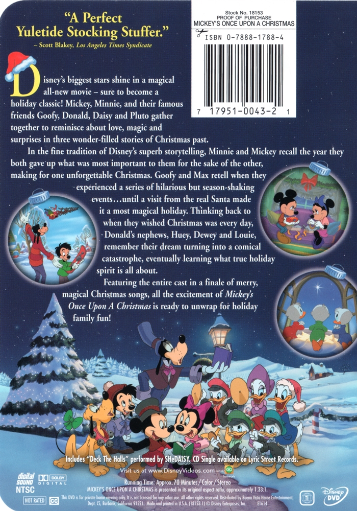 Mickey Once Upon A Christmas.Mickey S Once Upon A Christmas The Internet Animation Database