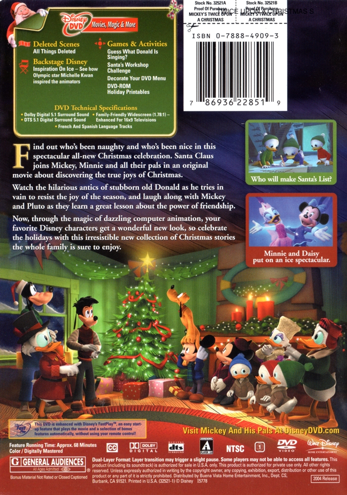 mickeys twice upon a christmas click on cover for larger image - Mickeys Twice Upon A Christmas