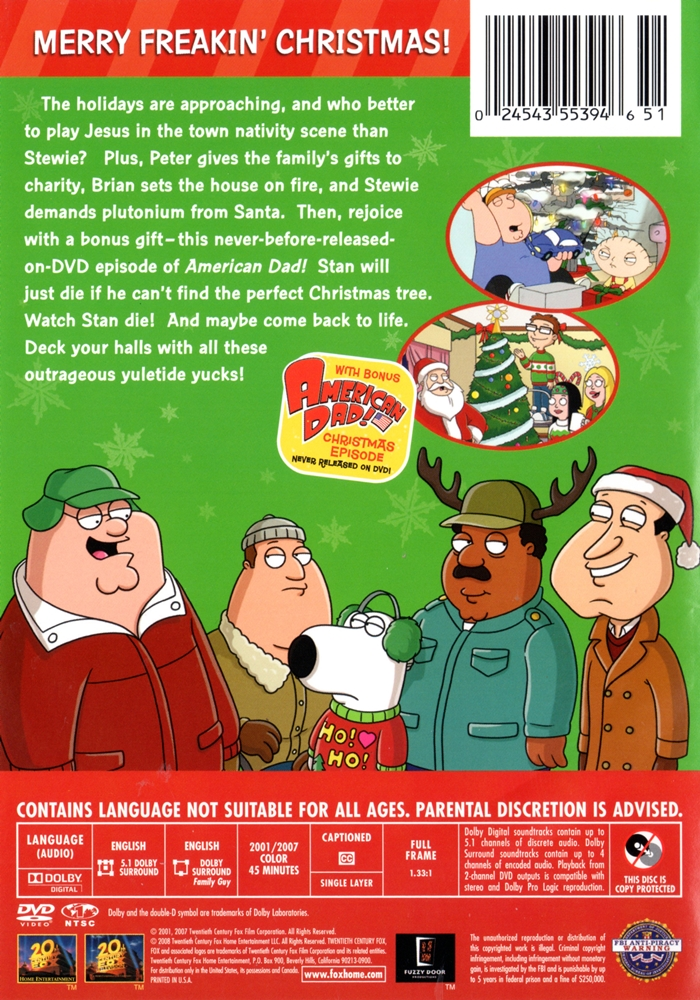 a very special family guy freakin christmas click on cover for larger image - Family Guy Christmas Special