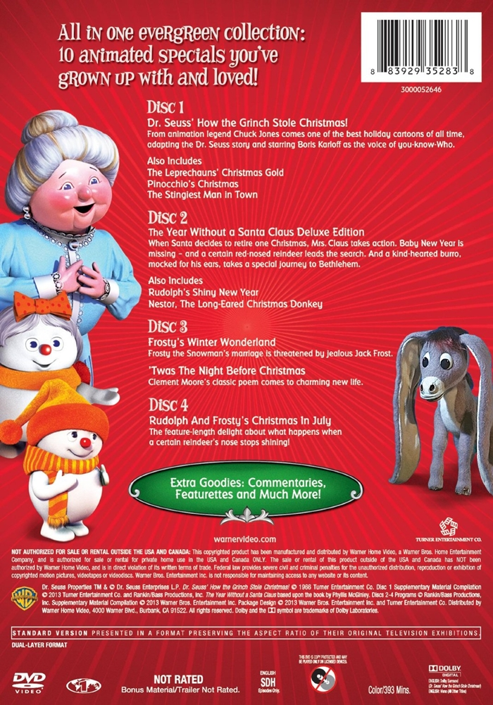 Rudolph And Frostys Christmas In July Dvd.Classic Christmas Favorites The Internet Animation Database