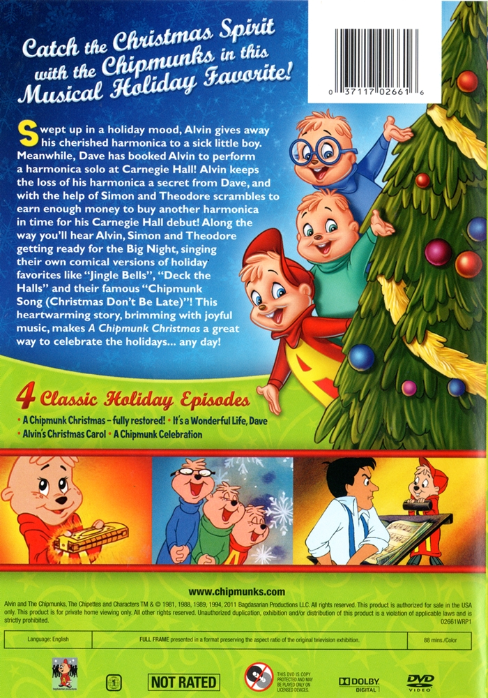 Christmas with the Chipmunks - The Internet Animation Database