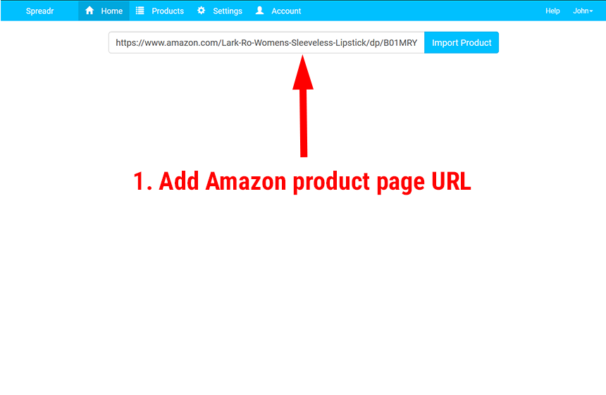 Spreadr Amazon Importer
