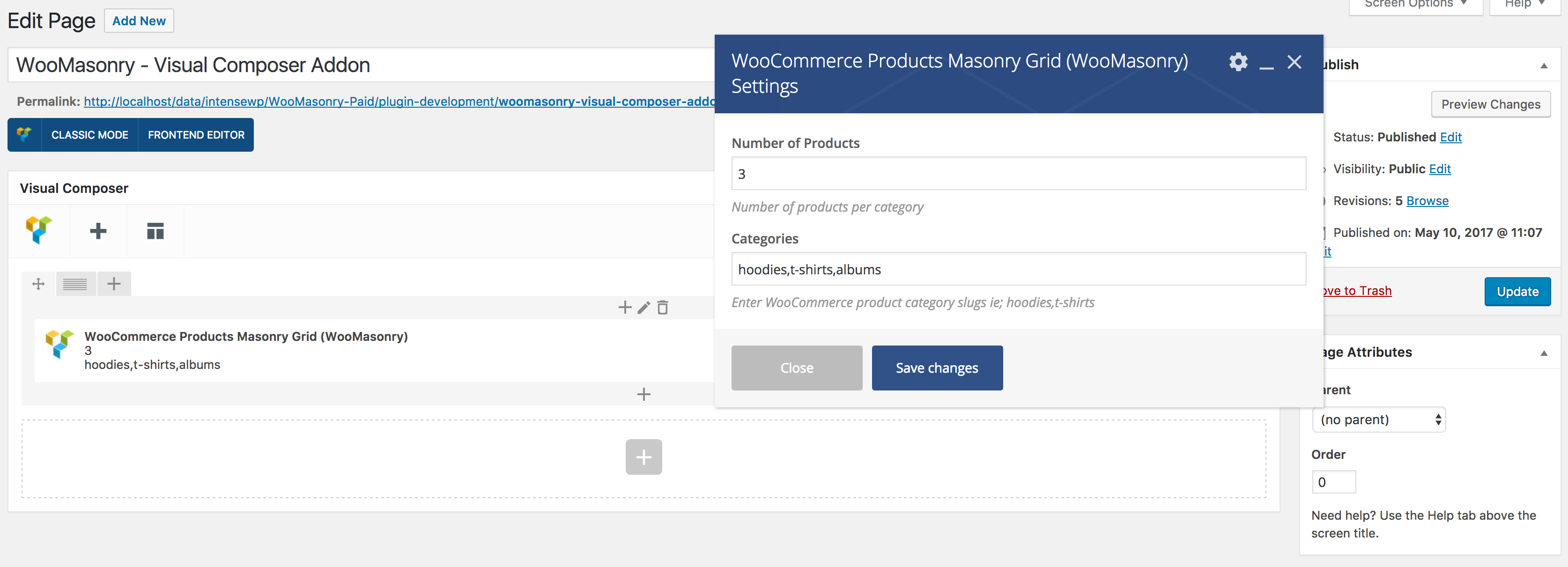WooCommerce Products Masonry Grid - Visual Composer Supported