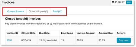 Invoice Statuses