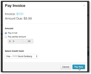 Pay invoice now