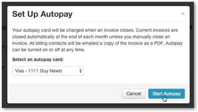 Start Autopay
