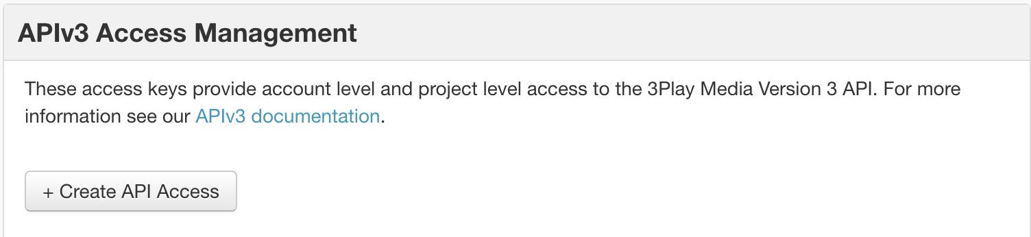 APIv3 Access MGMT