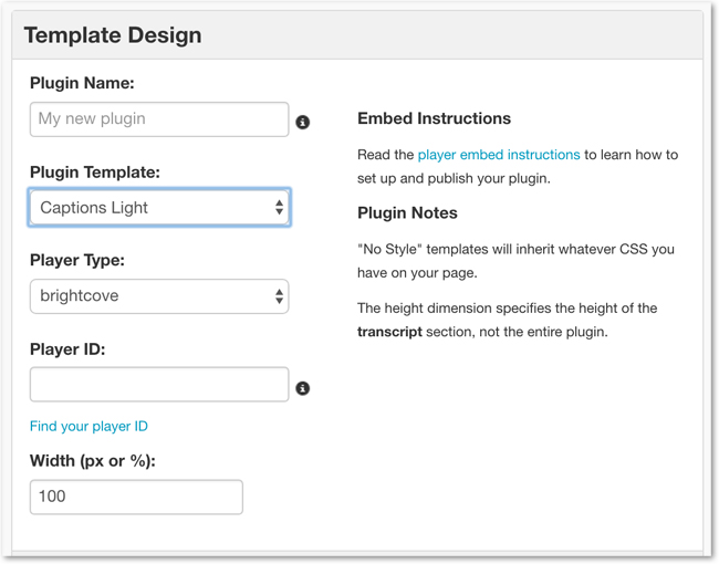 3Play Media captions plugin template