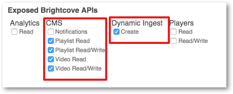 CMS exposed Brightcove API for 3Play Media closed captioning integration