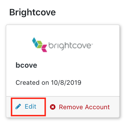 Click Linked Brightcove Account