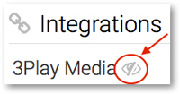 View API keys for 3Play Media closed captioining integration with Cattura