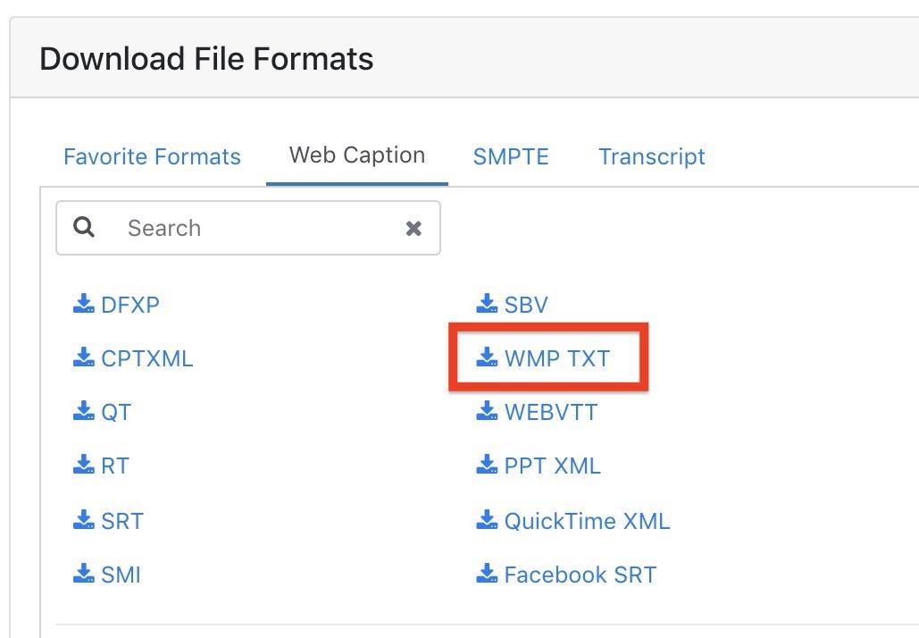 Download WMP TXT file