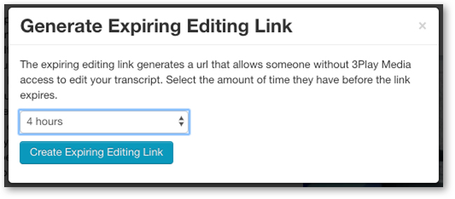 Create Expiring Editing Link