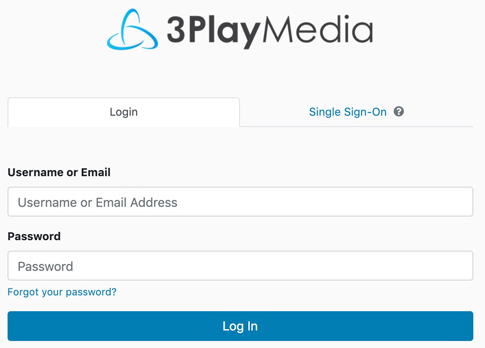Transcription service login for 3Play Media