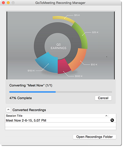 GoToMeeting Convert Recording