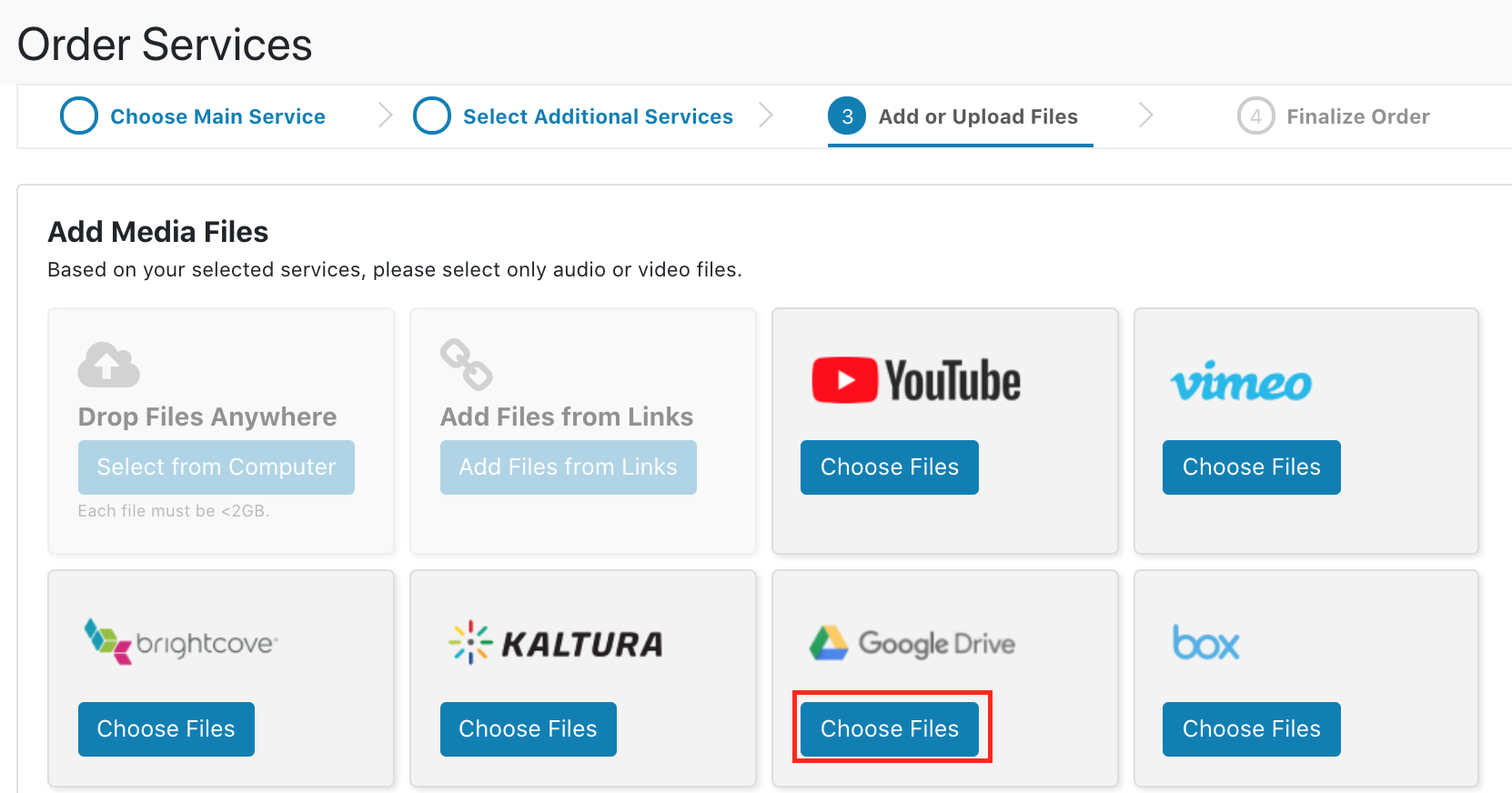 Linked Cloud Storage Account