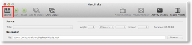 Handbrake Source Button