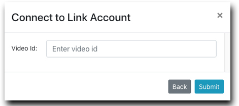 Enter Video ID for Linked Account