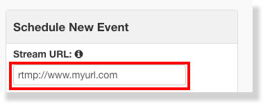 Stream URL field