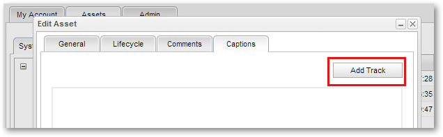Add Captions Transcript Tracks to MediaPlatform