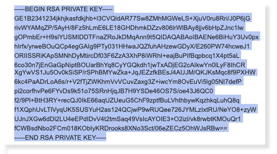 SSH Key to be copied
