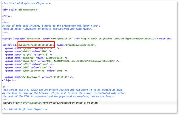 Brightcove embed code