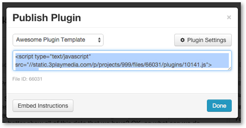 Copy Captions Plugin Embed Code