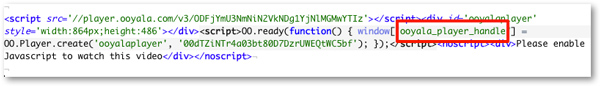 Ooyala embed code